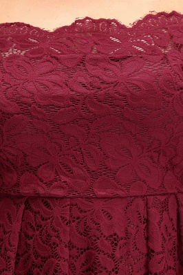 JASMIN | A-Line Off-Shoulder Short Plis size Lace Burgundy Cocktail Dresses_10