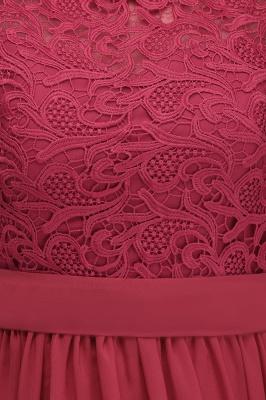 ITZEL | A-Line Crew Long Plus size Sleeveless Lace Chiffon Evening Dresses with Sash_10