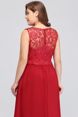ISLA | A-Line Crew Floor Length Sleeveless Plus size Lace Chiffon Evening Dresses_8