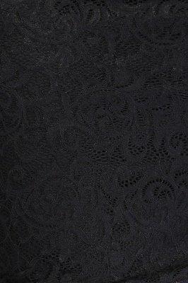 JANE   Mermaid Crew Short Plus size Long Sleeves Lace Black Cocktail Dresses_9