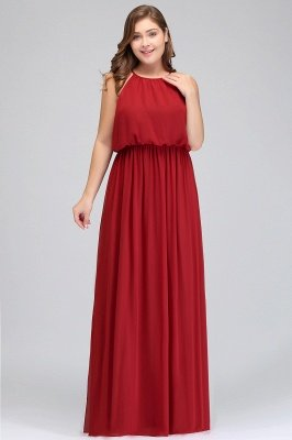 JAIDA | A-Line Straps Floor Length Sleeveless Plus size Evening Dresses with Ruffles_8