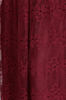 JADE | A-Line V-neck Floor Length Sleeveless Plus size Lace Burgundy Evening Dresses_11