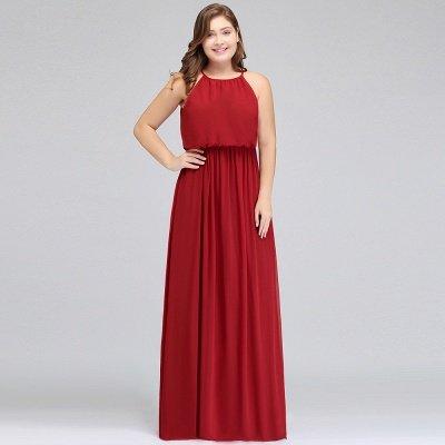 JAIDA | A-Line Straps Floor Length Sleeveless Plus size Evening Dresses with Ruffles_9