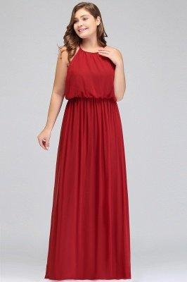 JAIDA | A-Line Straps Floor Length Sleeveless Plus size Evening Dresses with Ruffles_5