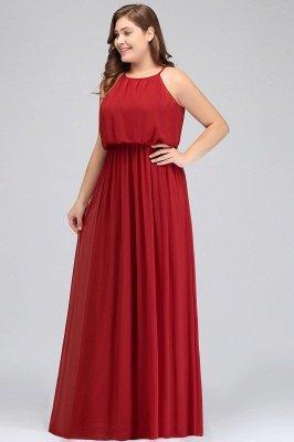 JAIDA | A-Line Straps Floor Length Sleeveless Plus size Evening Dresses with Ruffles_4