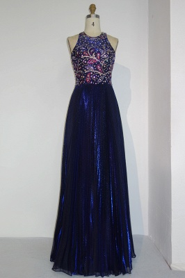 Gorgeous Beads Custom Made A-line Sequined Sleeveless Prom Dresses Cheap   Stunning Prom Dresses Cheap_1