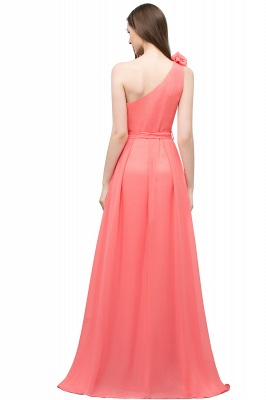 VALERIA | A-line One Shoulder Floor Length Chiffon Prom Dresses with Bow Sash_3