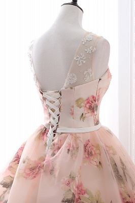 ALIA   Ball Gown Sweetheart Vintage Organza Evening Dresses With Print_7