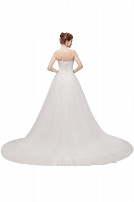 XENIA   A-line Sweetheart Strapless Tulle Wedding Dresses with Feathers