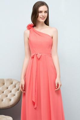 VALERIA | A-line One Shoulder Floor Length Chiffon Prom Dresses with Bow Sash_4