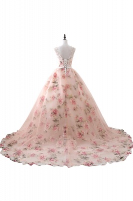 ALIA   Ball Gown Sweetheart Vintage Organza Evening Dresses With Print_3