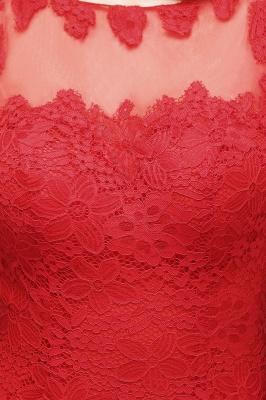 VANESSA | Mermaid Floor Length Illusion Neckline Sleeveless Tulle Lace Prom Dresses_6