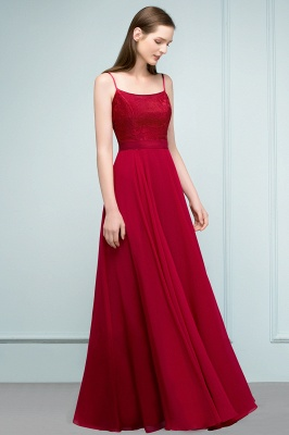 JULIANNE   A-line Spaghetti Floor Length Lace Appliques Prom Dresses_9