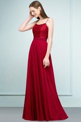 JULIANNE   A-line Spaghetti Floor Length Lace Appliques Prom Dresses_8