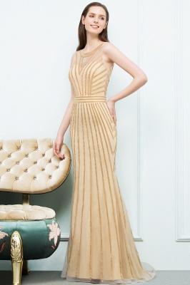 SONIA | Mermaid Floor Length Beading Patterns Champagne Prom Dresses_6