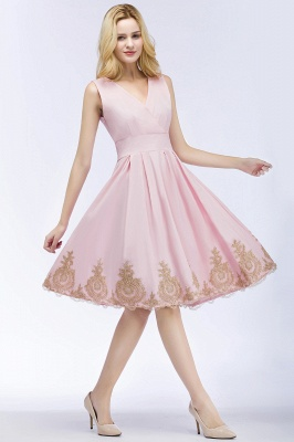 ROSEANNE | A-line V-neck Knee Length Sleeveless Appliques Homecoming Dresses_3