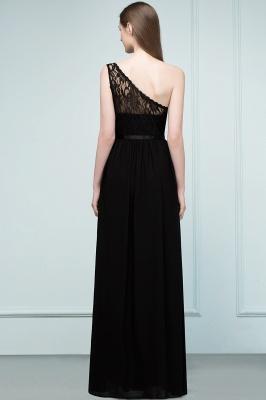 SYBIL   A-line One-shoulder Floor Length Lace Chiffon Bridesmaid Dresses with Sash_3