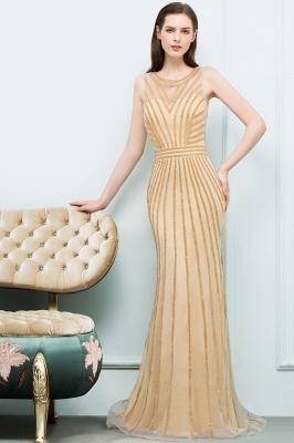 SONIA | Mermaid Floor Length Beading Patterns Champagne Prom Dresses_7