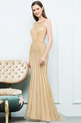 SONIA | Mermaid Floor Length Beading Patterns Champagne Prom Dresses_1