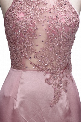 SALOME | Mermaid Long Spaghetti Rose Flowers Pink Beaded Prom Dresses_7