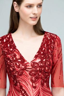 STEPHANIE | Sheath V-neck Half Sleeves Short Sequins Homecoming Dresses_7