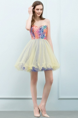SHONA | A-line Strapless Sweetheart Short Sequined Tulle Homecoming Dresses_9