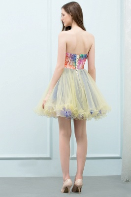 SHONA | A-line Strapless Sweetheart Short Sequined Tulle Homecoming Dresses_3