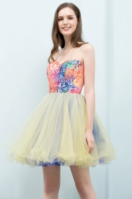 SHONA | A-line Strapless Sweetheart Short Sequined Tulle Homecoming Dresses_4
