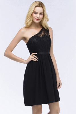 ROSA | A-line Short One-shoulder Lace Top Chiffon Homecoming Dresses with Sash_11