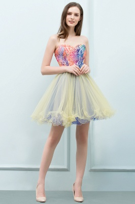 SHONA | A-line Strapless Sweetheart Short Sequined Tulle Homecoming Dresses_1
