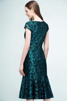REGINA | Mermaid V-neck Tea Length Lace Appliqued Prom Dresses_8