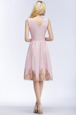 ROSEANNE | A-line V-neck Knee Length Sleeveless Appliques Homecoming Dresses_4