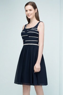 REGAN | A-line Short Sleeveless Beading Chiffon Homecoming Dresses_5