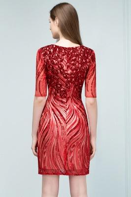 STEPHANIE | Sheath V-neck Half Sleeves Short Sequins Homecoming Dresses_3