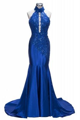 SALLY | Mermaid Floor Length Halter Keyhole Neckline Sequined Prom Dresses_1