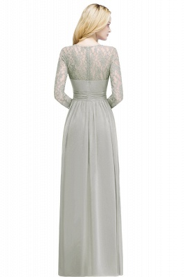 ROSALIE | A-line Floor Length Long Sleeves Lace Chiffon Bridesmaid Dresses_1