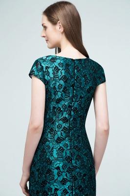 REGINA | Mermaid V-neck Tea Length Lace Appliqued Prom Dresses_3