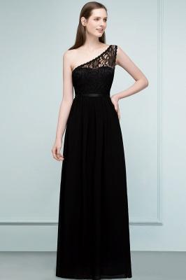 SYBIL   A-line One-shoulder Floor Length Lace Chiffon Bridesmaid Dresses with Sash_1