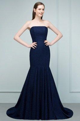 RAMONA   Mermaid Strapless Floor Length Lace Prom Dresses_5