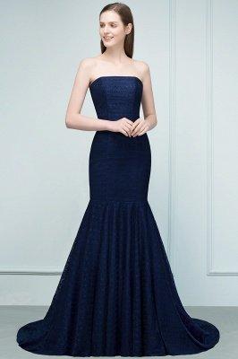 RAMONA   Mermaid Strapless Floor Length Lace Prom Dresses_9