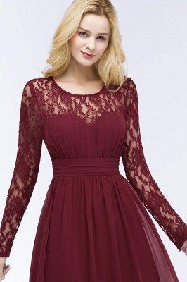 ROSALIE | A-line Floor Length Long Sleeves Lace Chiffon Bridesmaid Dresses_8