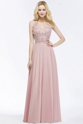 PAM   A-line V-neck Sleeveless Long Appliques Chiffon Bridesmaid Dresses_10