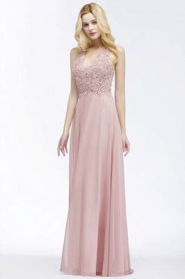 PAM   A-line V-neck Sleeveless Long Appliques Chiffon Bridesmaid Dresses_7