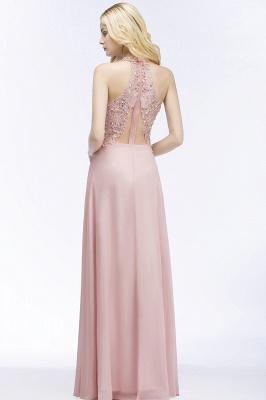 PAM   A-line V-neck Sleeveless Long Appliques Chiffon Bridesmaid Dresses_6
