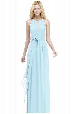 ROSALIND | A-line Halter Floor Length Burgundy Bridesmaid Dresses with Bow Sash_3