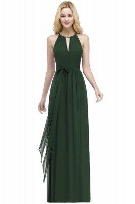 ROSALIND | A-line Halter Floor Length Burgundy Bridesmaid Dresses with Bow Sash_8