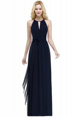 ROSALIND | A-line Halter Floor Length Burgundy Bridesmaid Dresses with Bow Sash_5