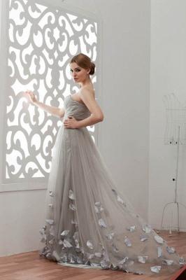 LIA | A-Line Strapless Floor Length Tulle Bridesmaid Dresses_5