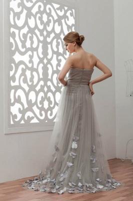 LIA | A-Line Strapless Floor Length Tulle Bridesmaid Dresses_3