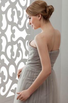 LIA | A-Line Strapless Floor Length Tulle Bridesmaid Dresses_11